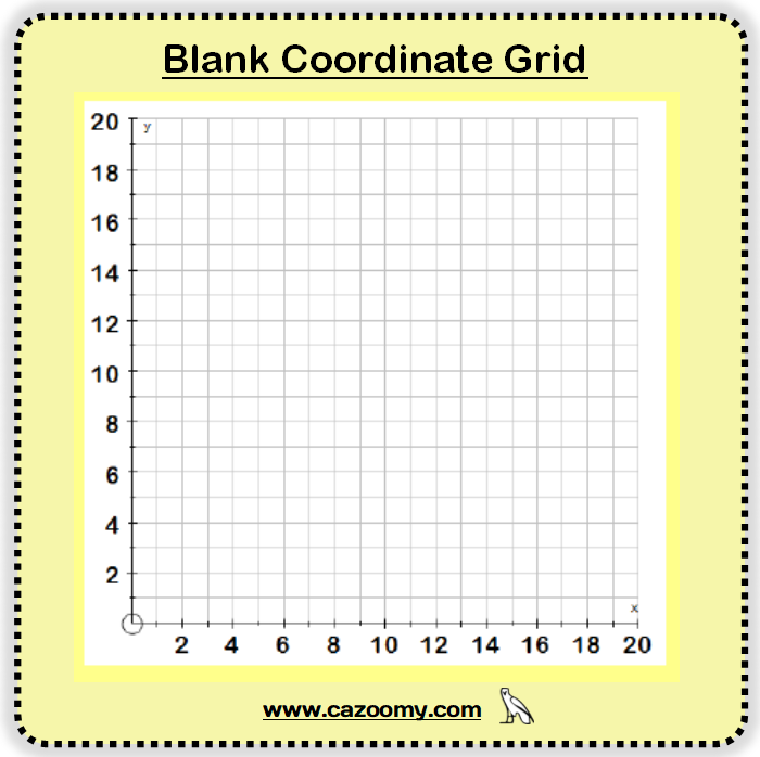 Blank Coordinate Grid 2