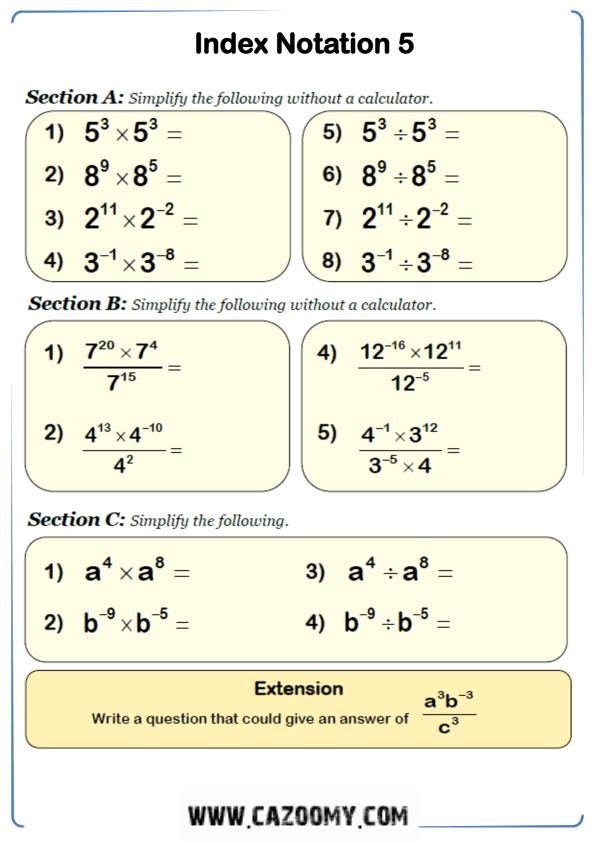 Free Math Worksheet Algebra 6