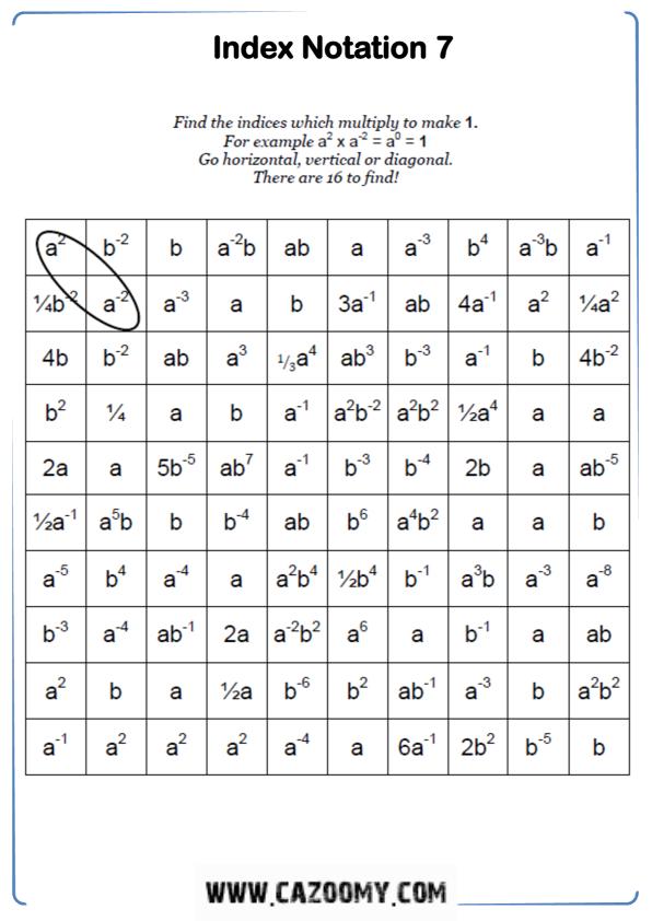 Free Math Worksheet Algebra 8