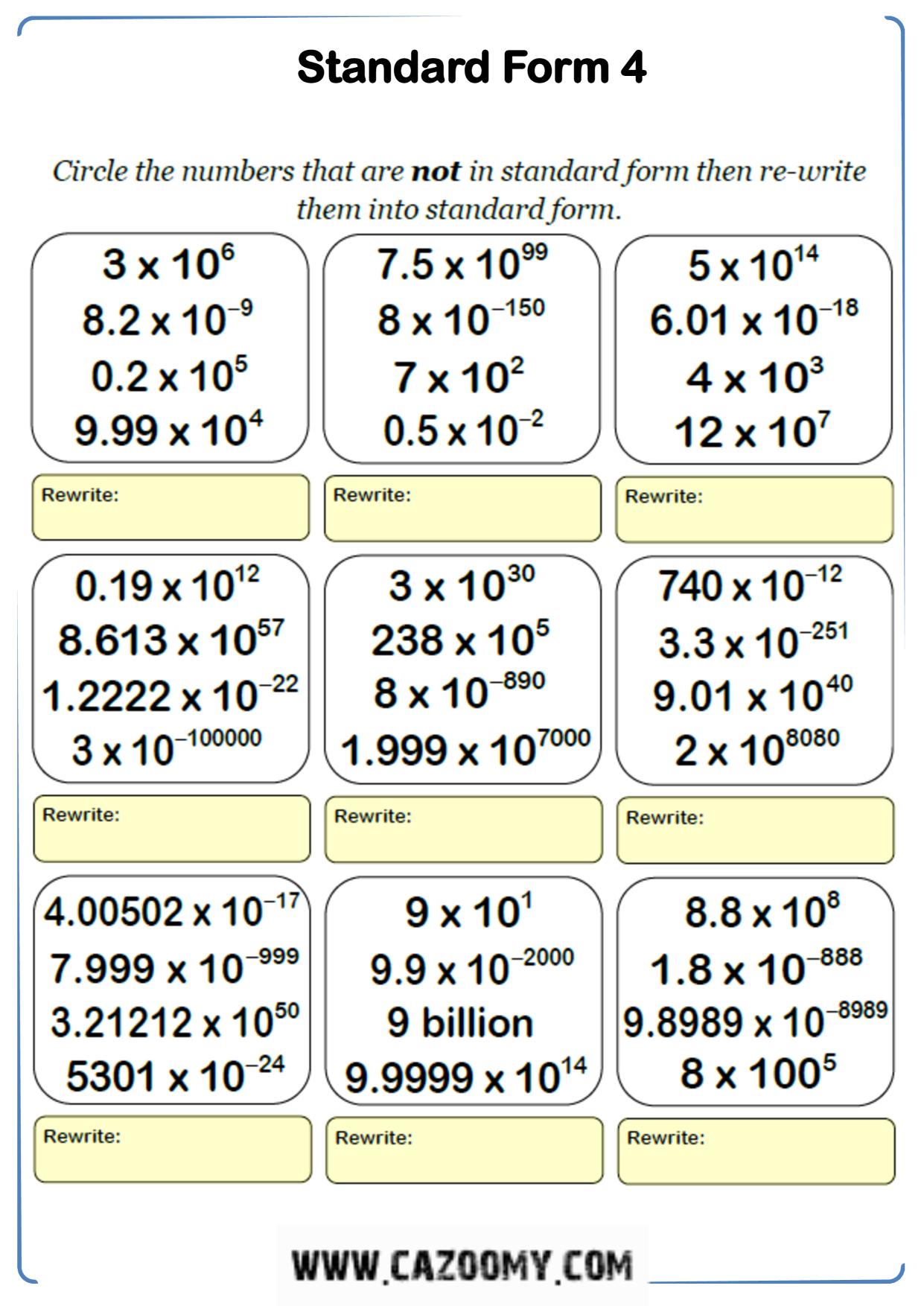 Free Math Worksheet Number 20