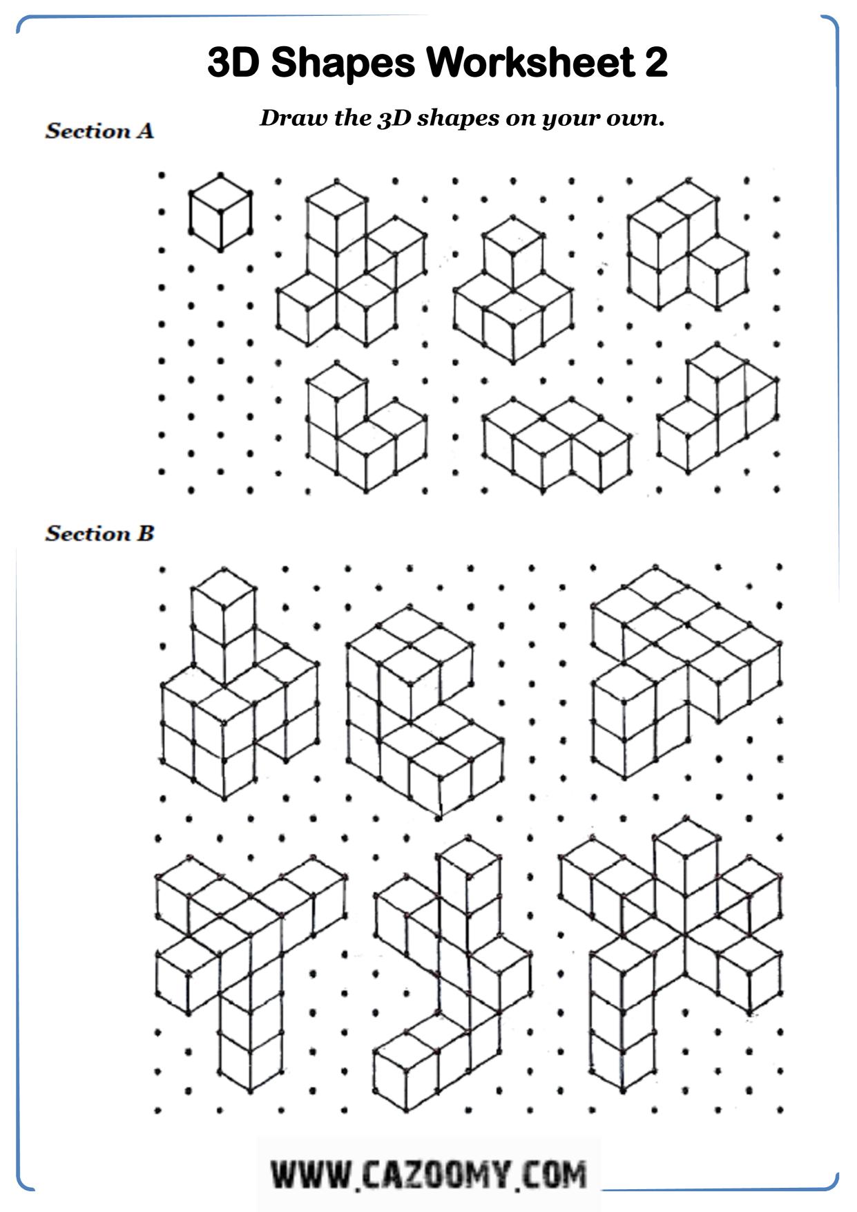 Free Math Worksheet Shape 1