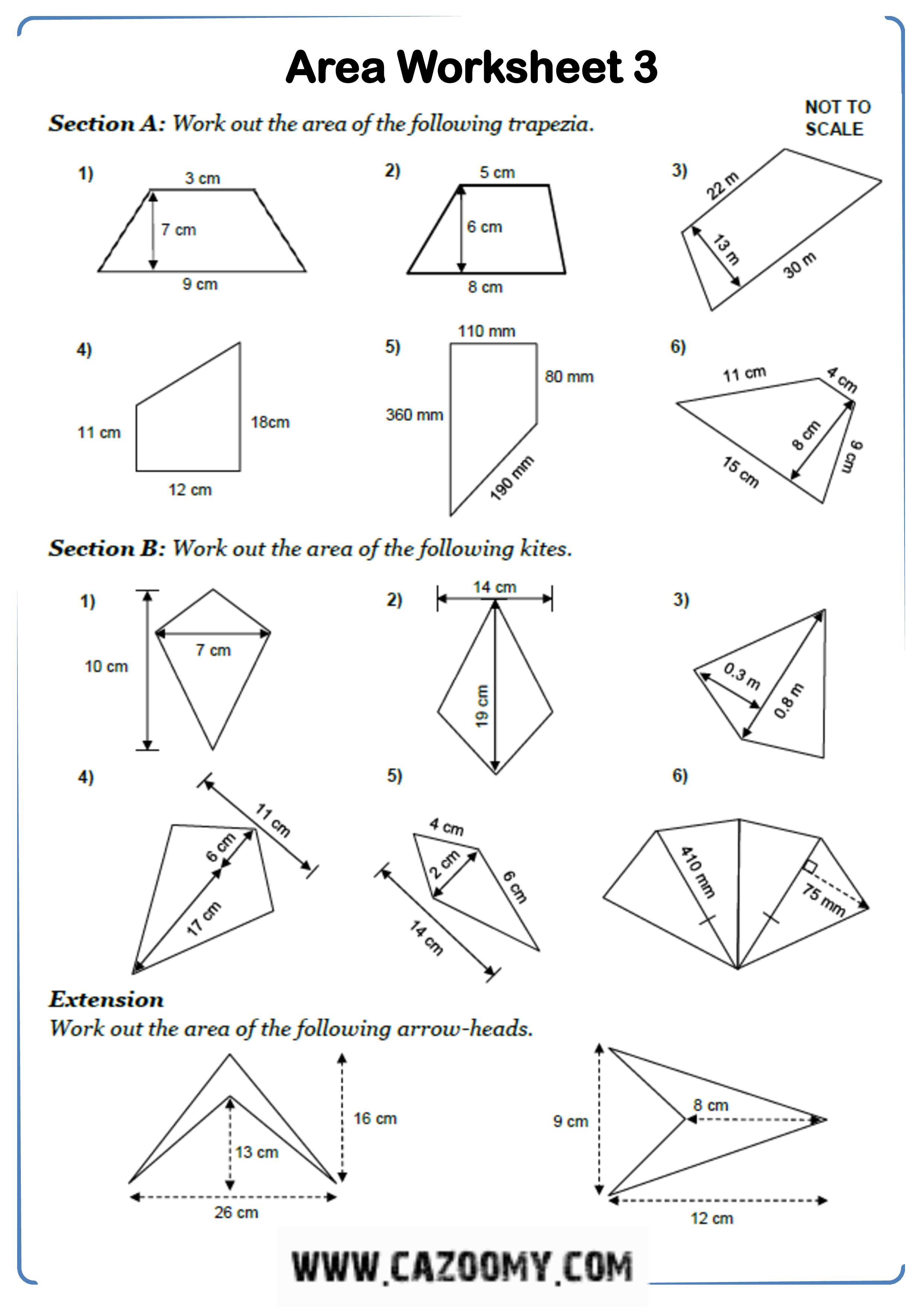 Free Math Worksheet Shape 9