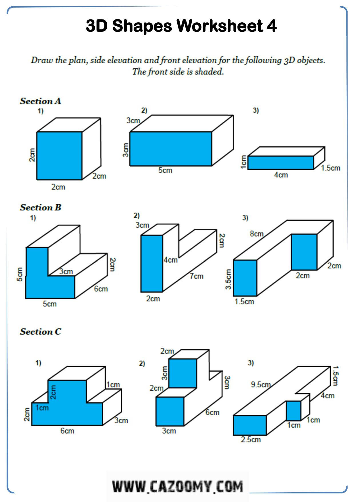 Free Math Worksheet Shape 3