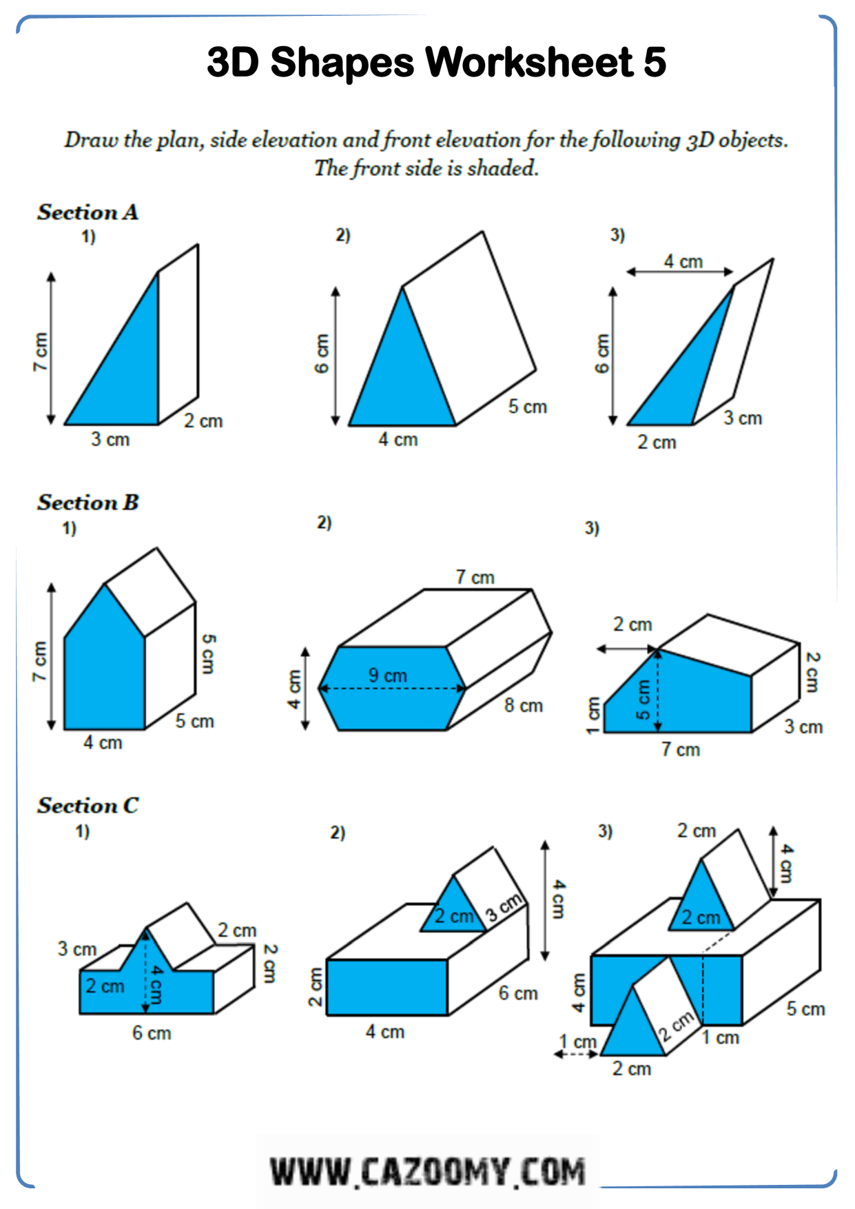 Free Math Worksheet Shape 4
