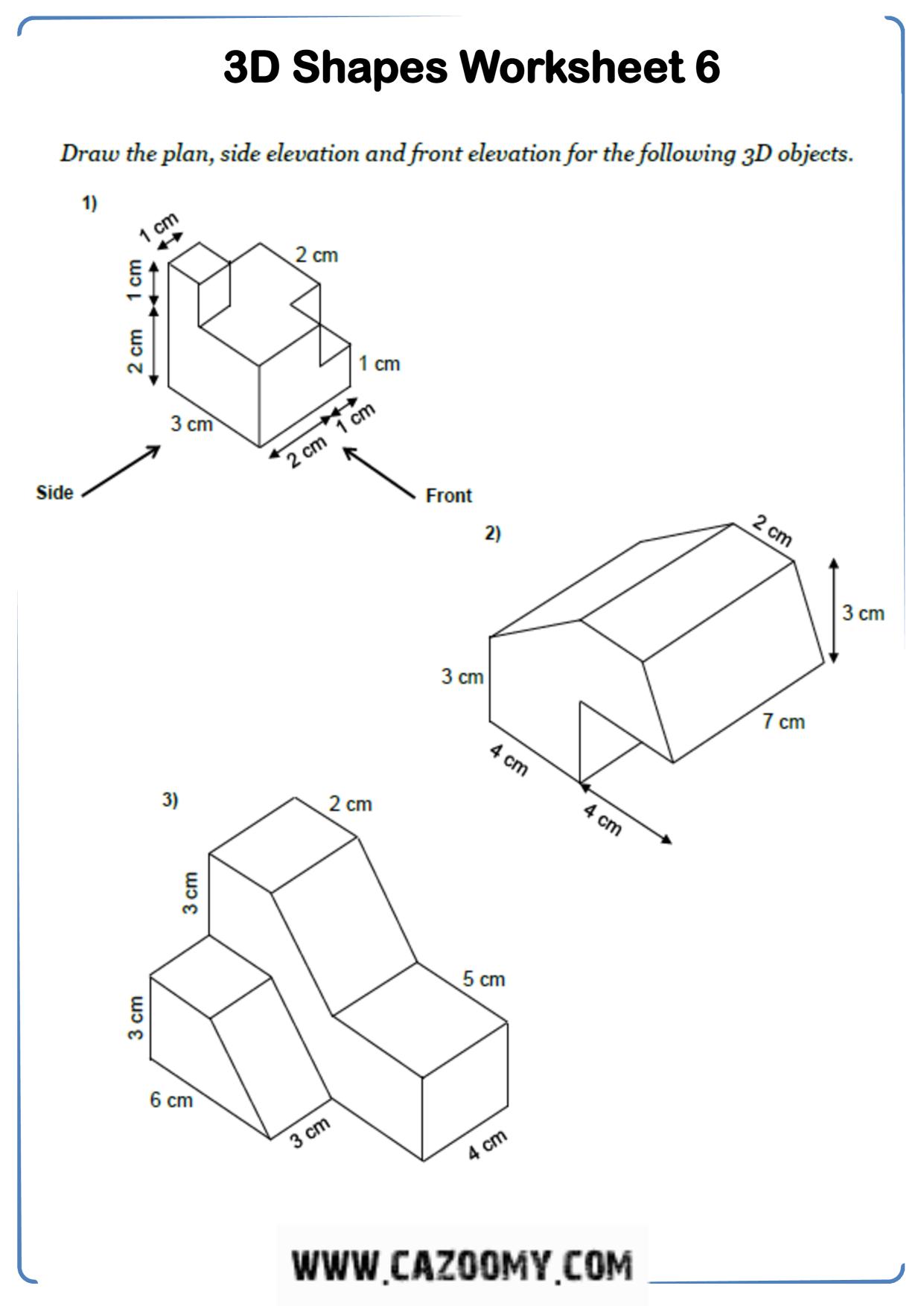 Free Math Worksheet Shape 5