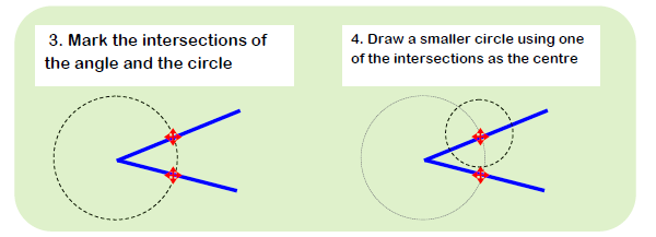 Constructing Angle Bisector 1