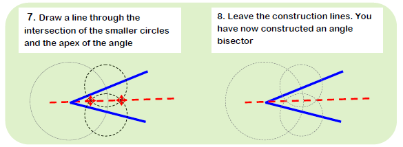 Constructing Angle Bisector 3