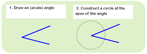 Constructing Angle Bisector
