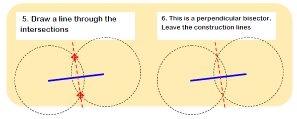 Constructing Perpendicular Bisector 2