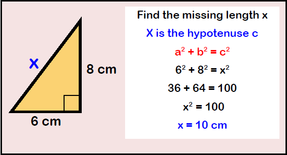 Pythagoras' Example Question 1