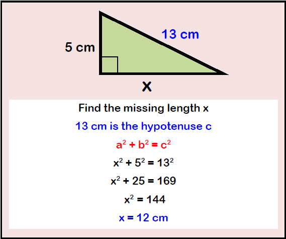 Pythagoras' Example Question 2