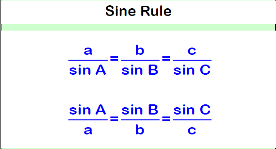 Trigonometry Sine Rule