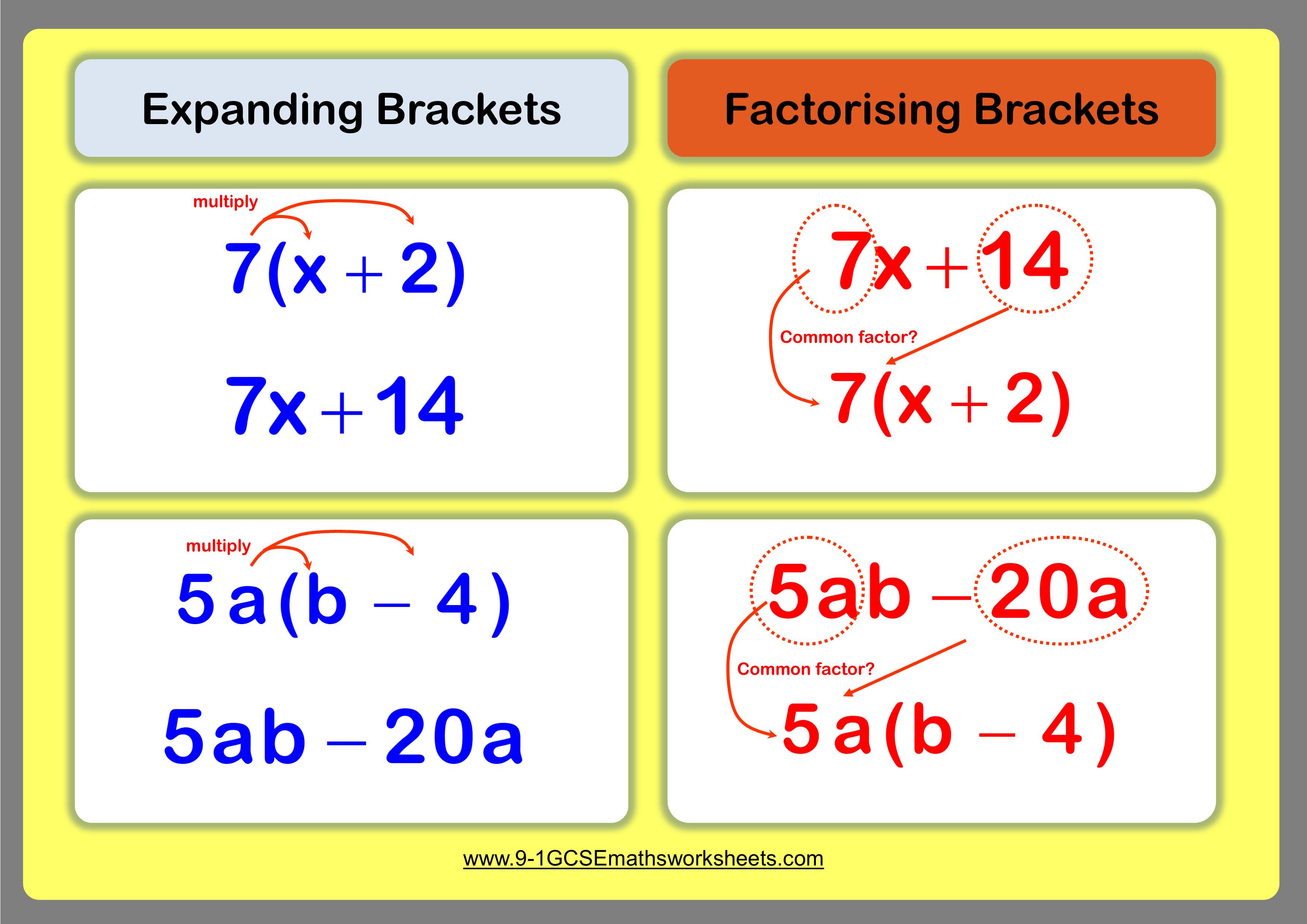 expanding factorising