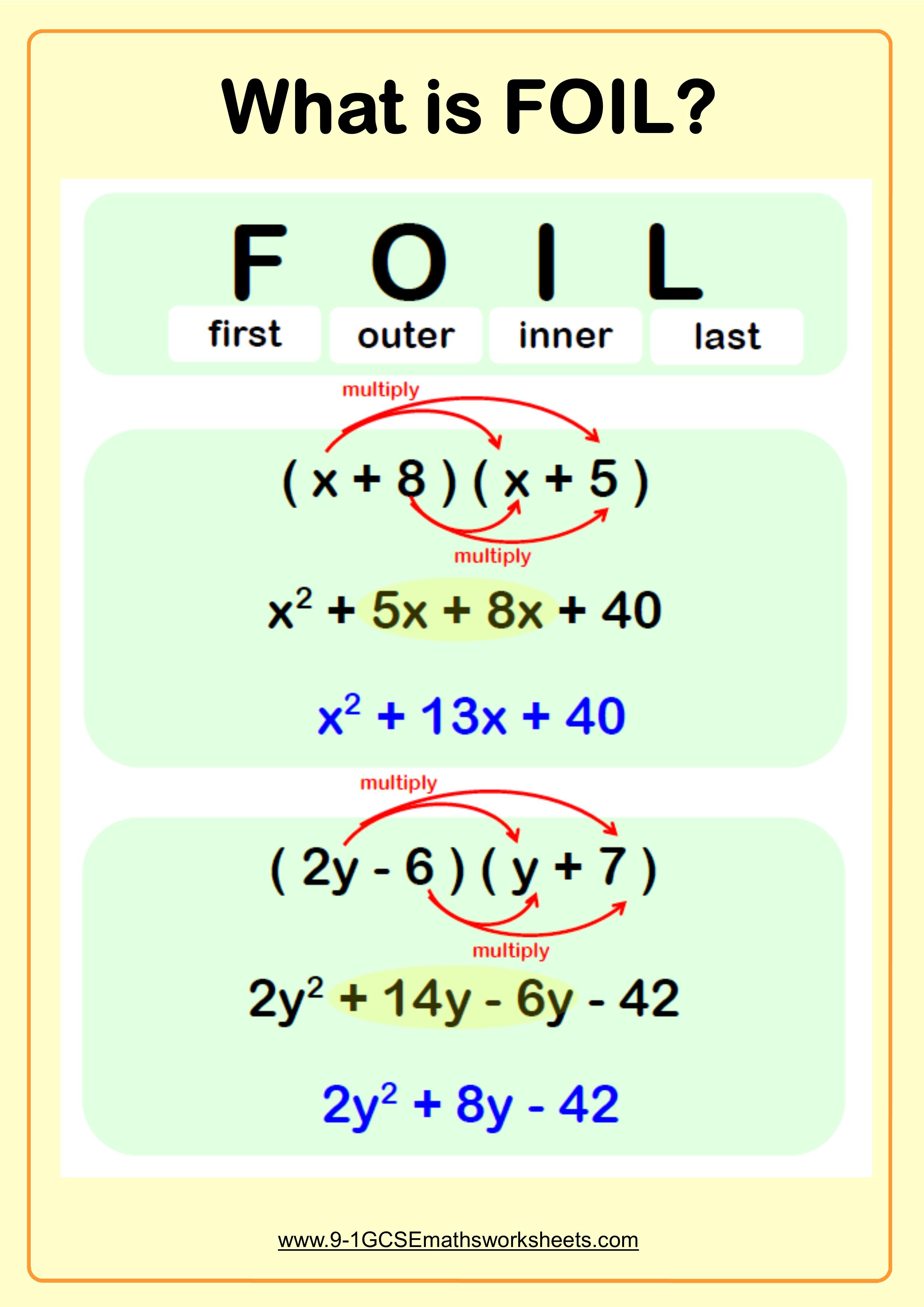 Expanding Double Brackets FOIL Example