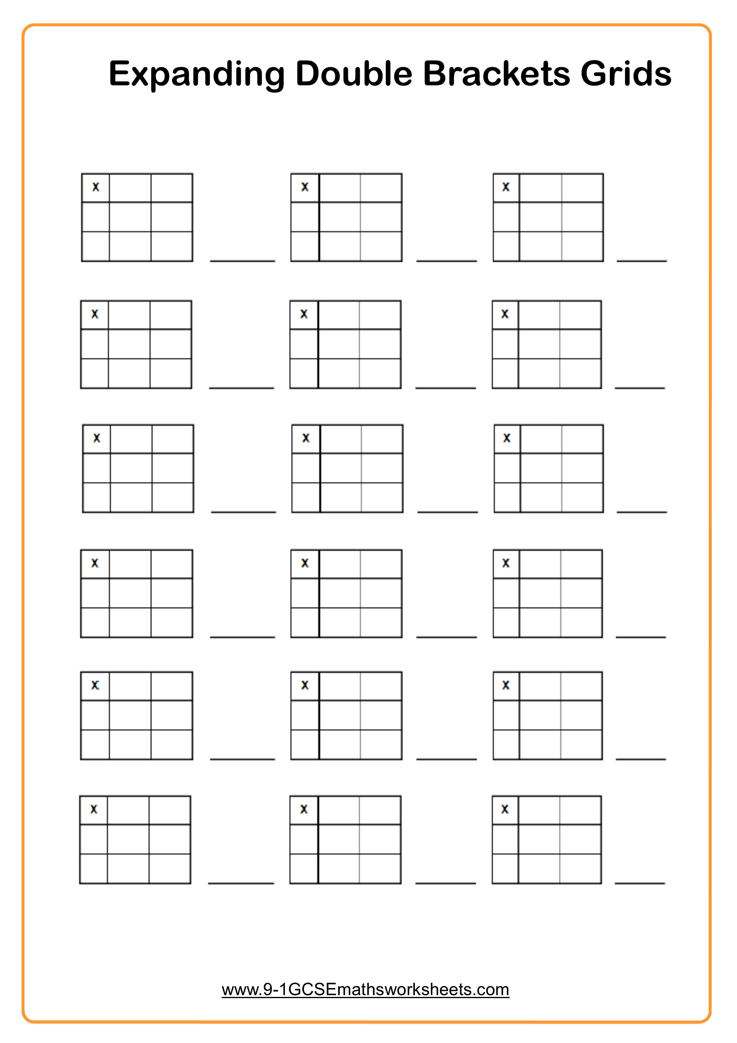 Expanding Double Brackets Grids
