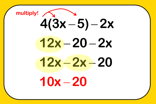 expanding and simplifying brackets example