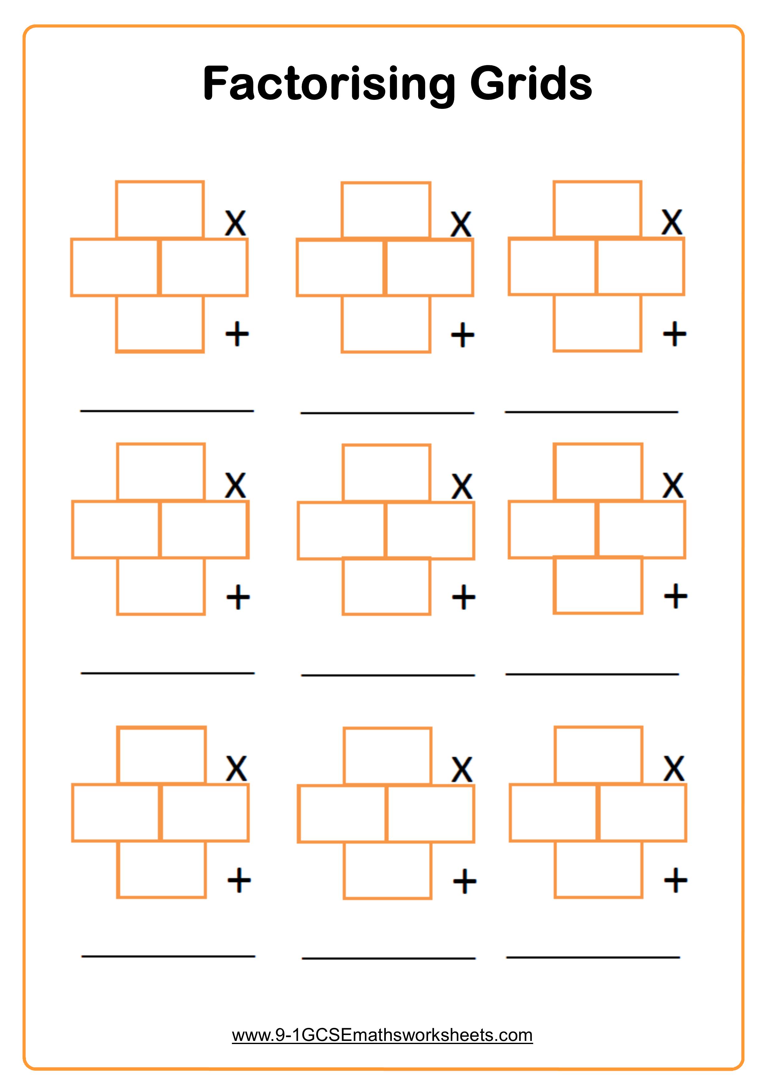 factorising quadratics 2