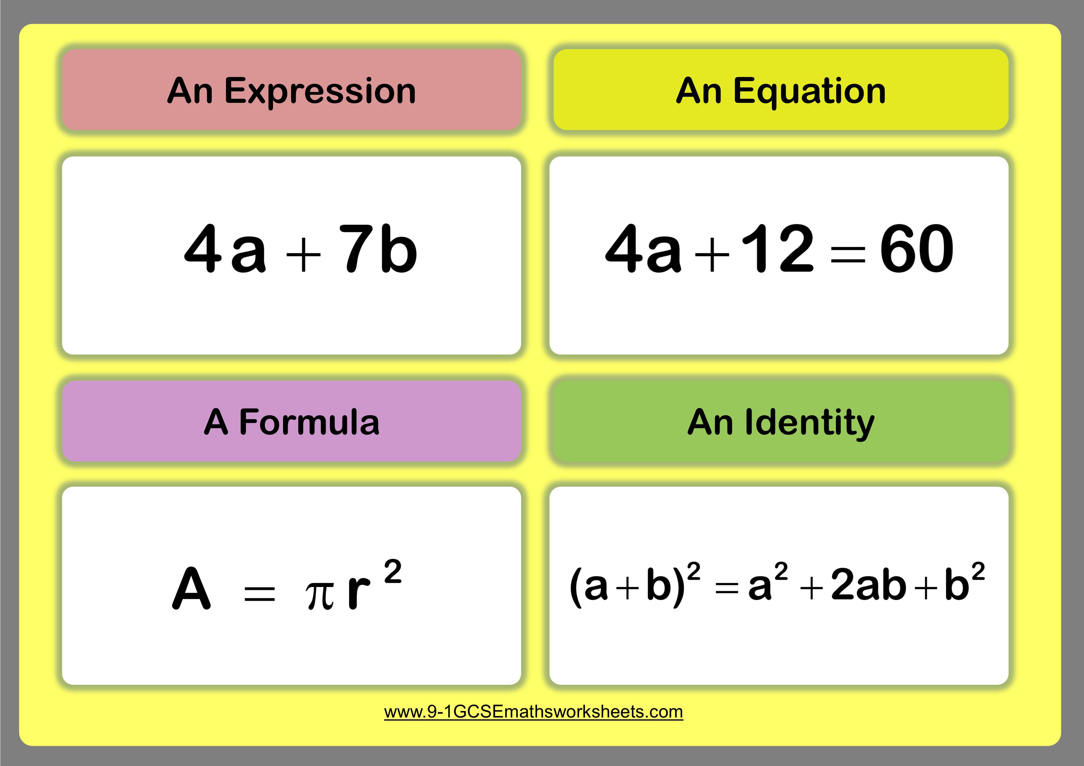 identities maths