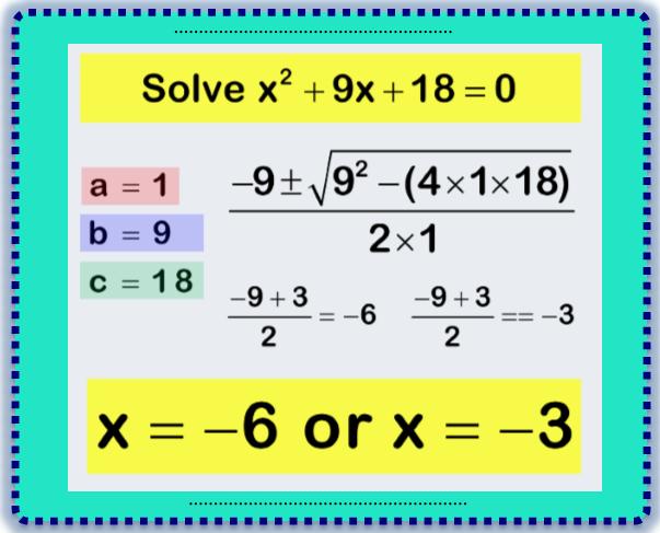 The Quadratic Equations 2
