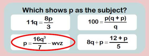 rearranging formulae 2