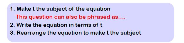 rearranging formulae examples 2