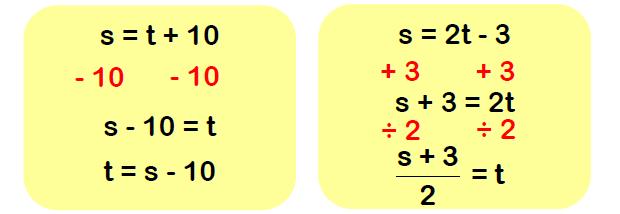 rearranging formulae examples 3