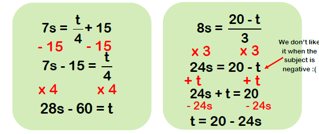 rearranging formulae examples 4