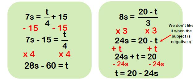 rearranging formulae examples 4
