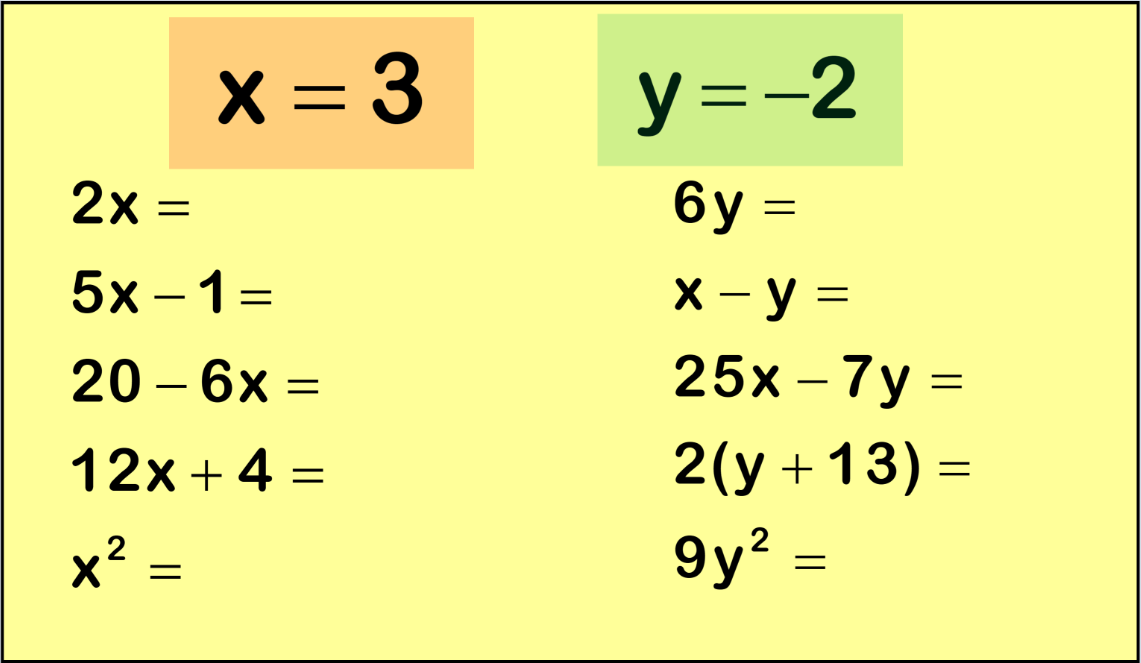 simultaneous equations starter