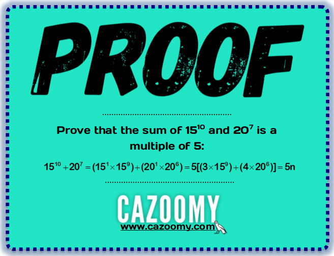 Algebraic Proof 7