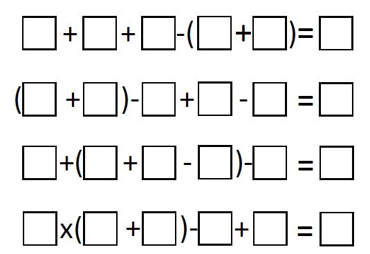 bidmas worksheet example 2