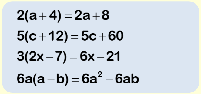 Expanding Brackets Worksheet Example 3