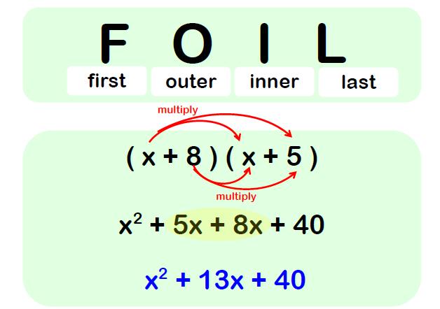 FOIL Maths Example