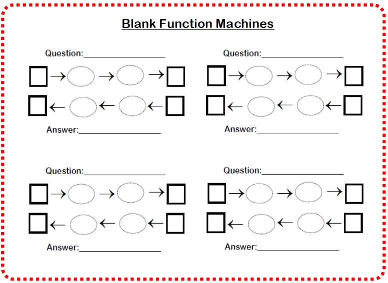 blank function machines