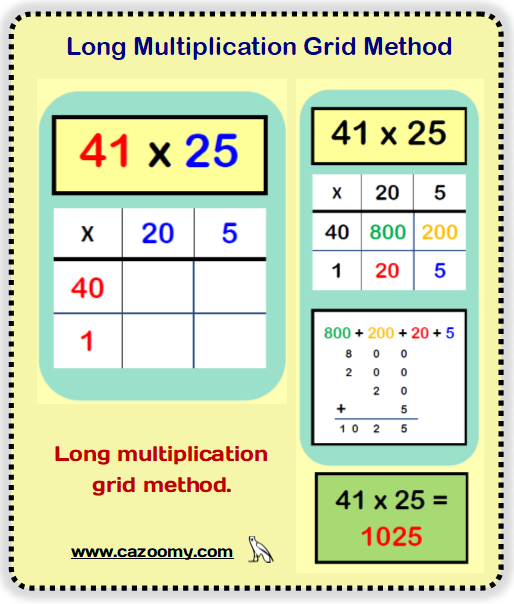 Multiplication Example Worksheet 2