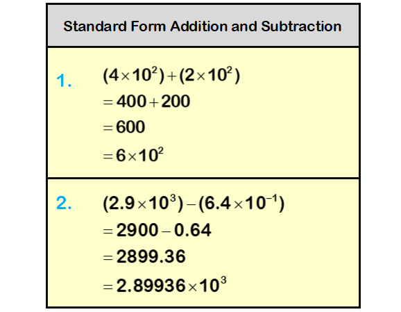 Standard Form Calculation Question 2