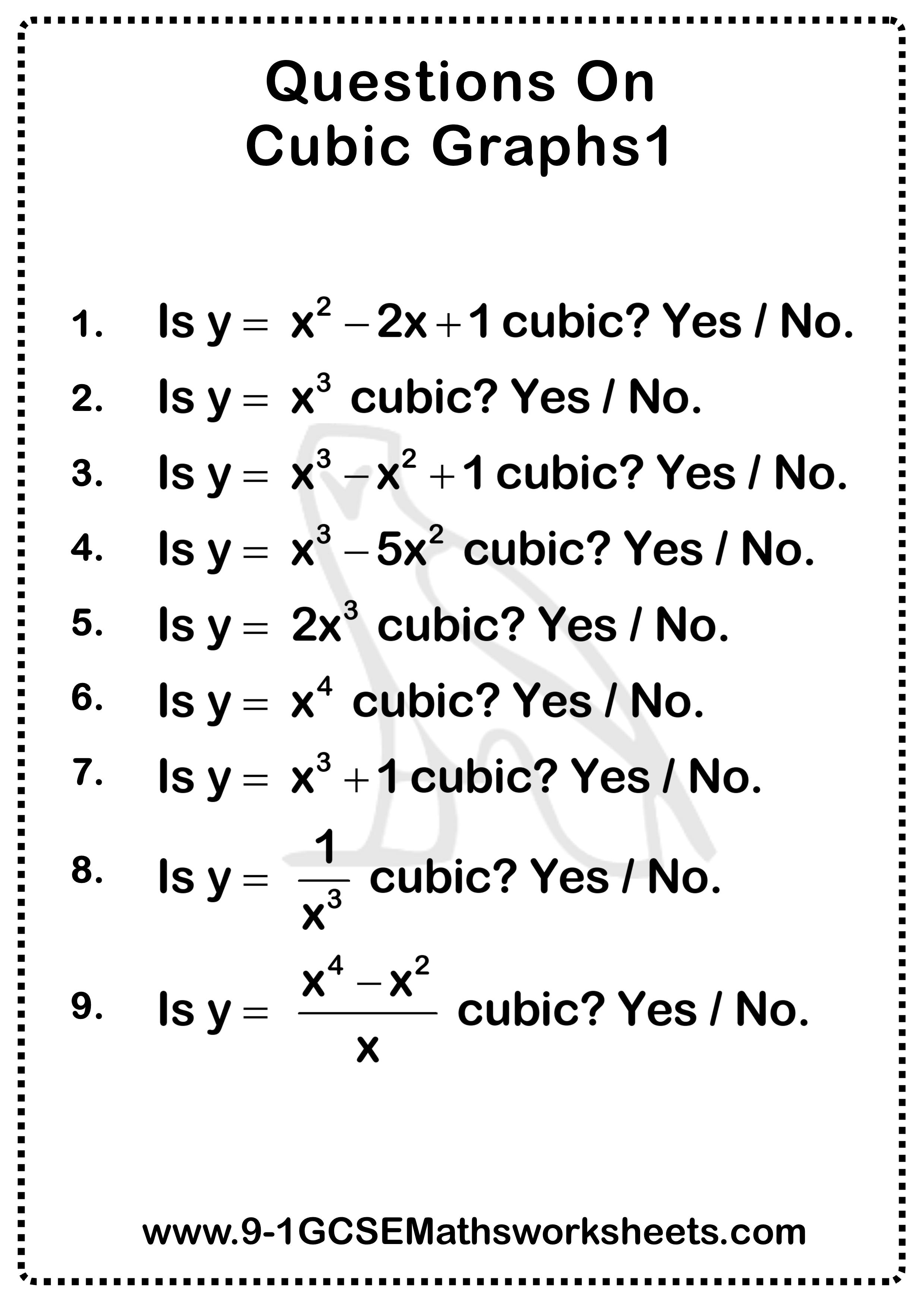 Cubic Graphs Questions 1