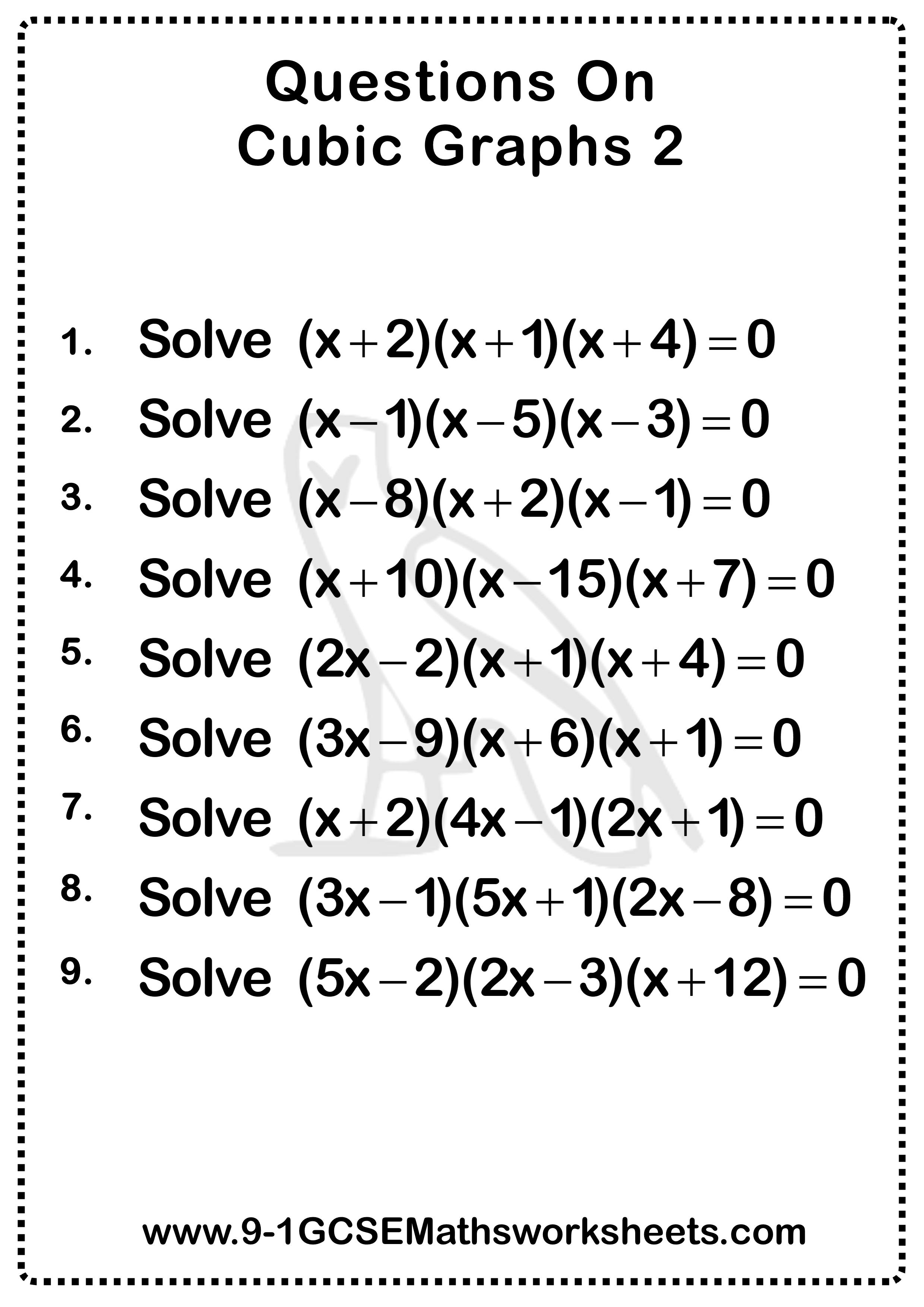 Cubic Graphs Worksheet 2
