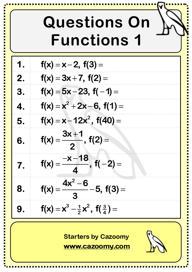 Functions Questions 1