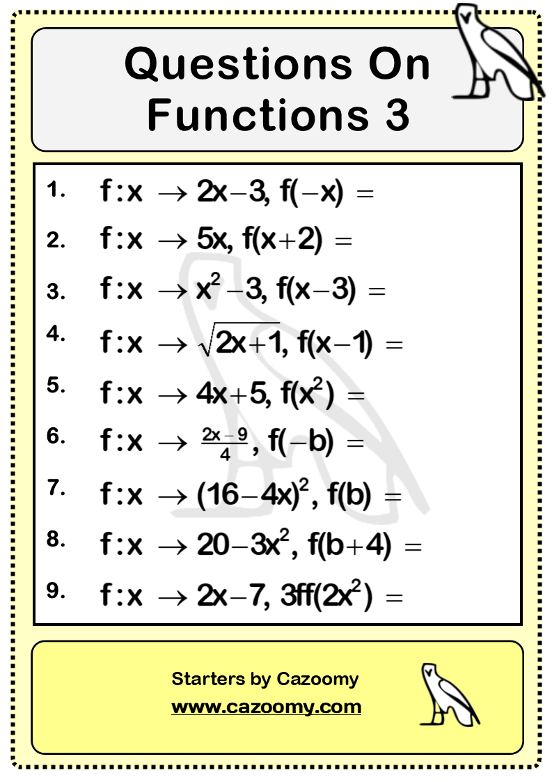 Functions Questions 3