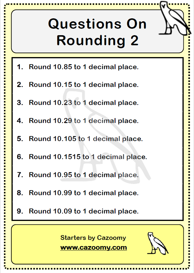 Rounding Worksheet 2