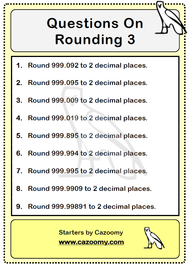 Rounding Worksheet 3