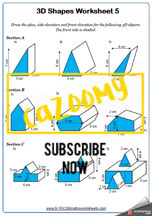 3D Shapes Worksheet 5