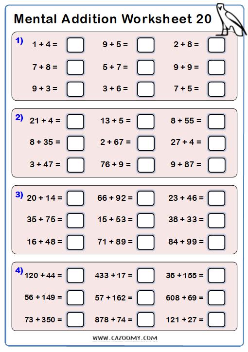 Addition Worksheet 1