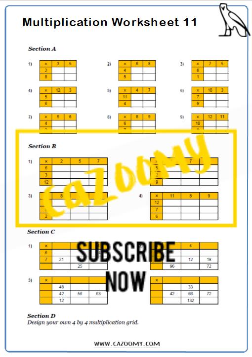 Arithmetic Worksheet 11