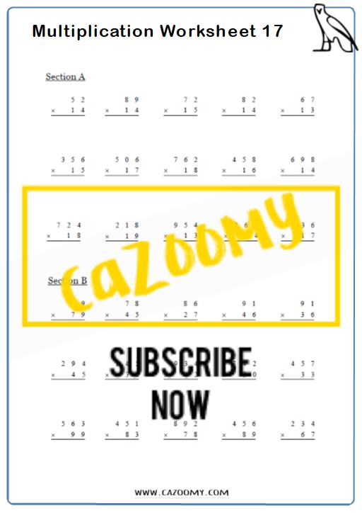 Arithmetic Worksheet 17