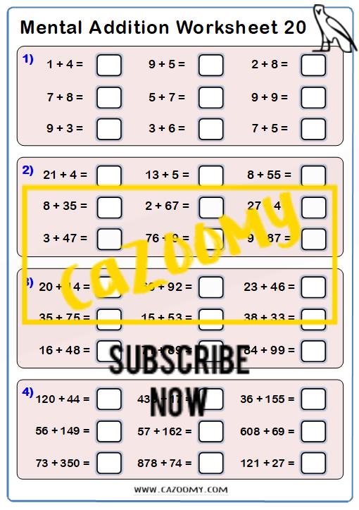 Arithmetic Worksheet 20