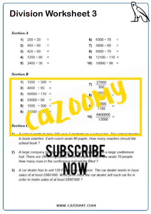 Arithmetic Worksheet 3