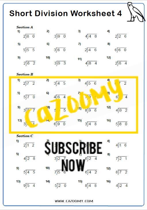 Arithmetic Worksheet 4