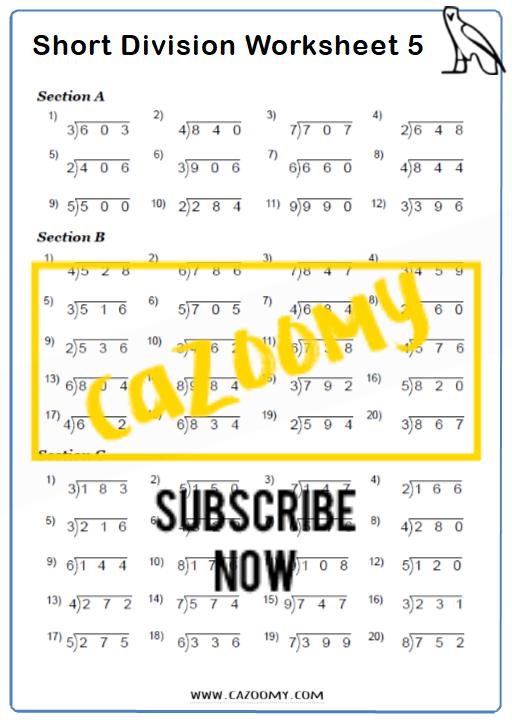 Arithmetic Worksheet 5